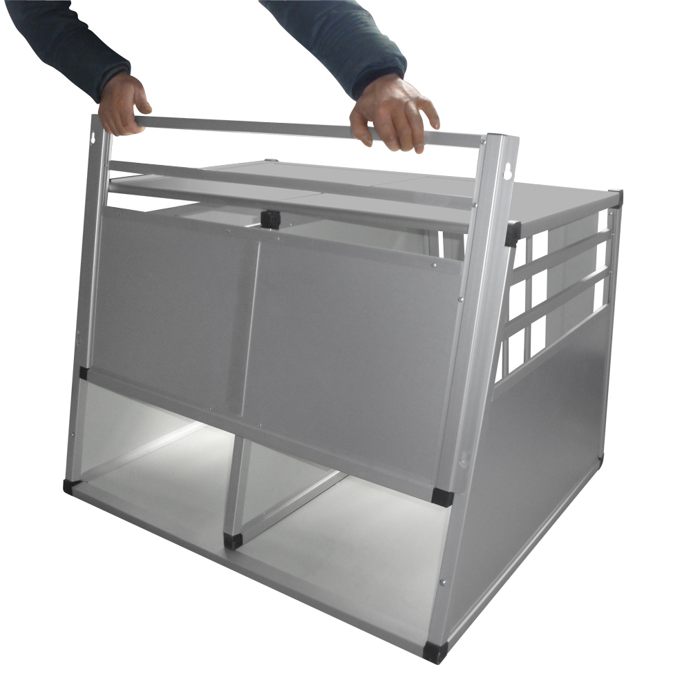 Trasportino In Alluminio Per Trasporto Cani In Auto