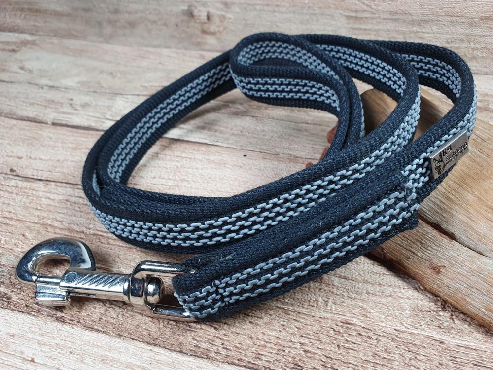 Guinzaglio per cani antiscivolo gommato in nylon con traccianti in gomma