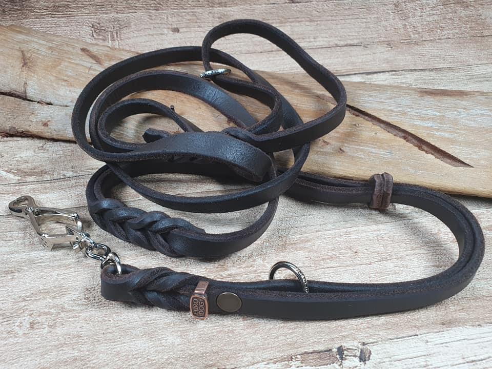 Guinzaglio da caccia con collare incorporato 2 in 1 fatto a mano da Eurodog
