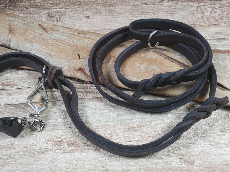 Guinzaglio da caccia con collare incorporato 2 in 1 prodotto in italia