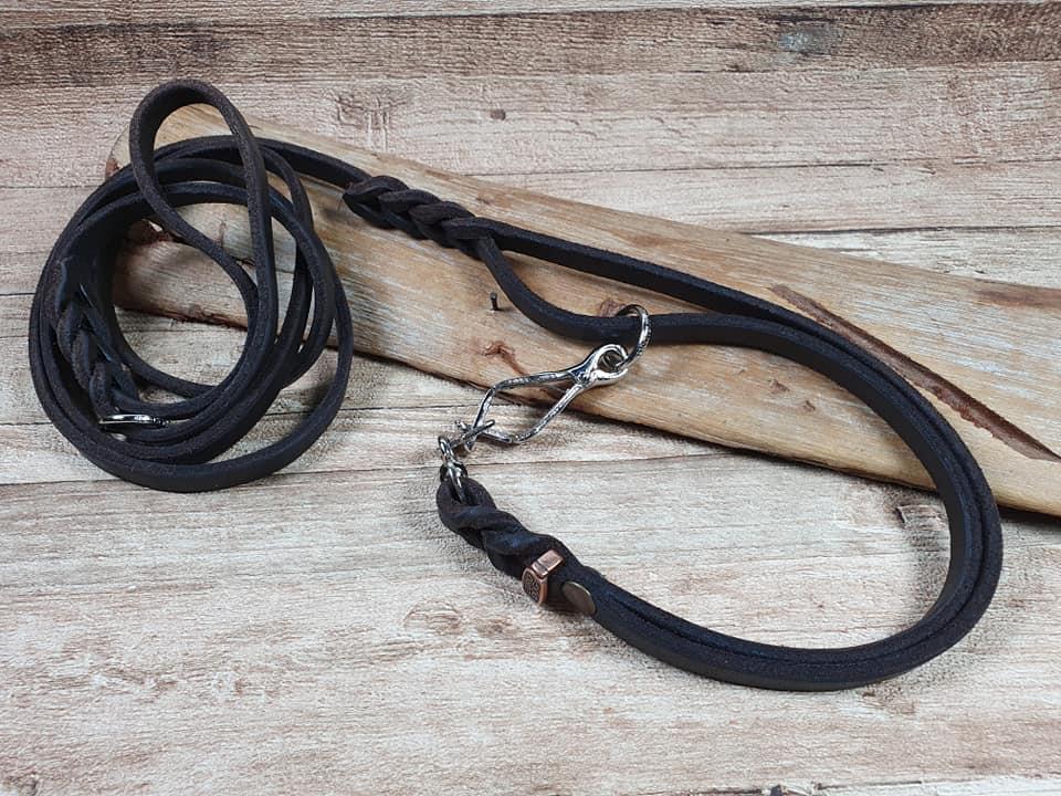 Guinzaglio da caccia con collare incorporato 2 in 1 firma eurodog