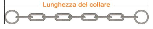 C40- LUNGHEZZA TOTALE DEL COLLARE 45 cm