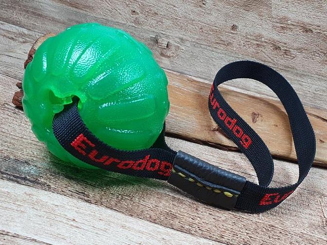 Palla morbida grande con cinturino per esercizi col cane Eurodog